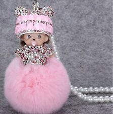 Pink Cartoon Car Mirror Pendant Car Interior Jewelry Decor Hanging Ornament