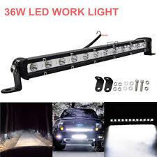 13Inch 36W Cree LED Work Light Bar Offroad Fog ATV SUV Car Driving Lamp Vehicle