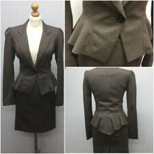 Viscose Skirt Checked Suits & Tailoring for Women
