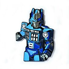 Transformers Dr. Who Police in a Box Autobots Robot Pendant Lapel Hat Pin