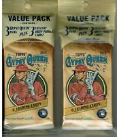 (2) 2019 Topps GYPSY QUEEN Baseball MLB Cards 3pk +3 Green PC Ret VALUE PACK LOT