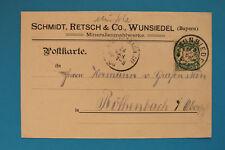 Geschäftspost AK Wunsiedel Ofr 1908 Schmidt Retsch & Co Mineralien Mahlwerke +++