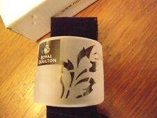 Vintage 2004 Royal Doulton Nib 6 Serenity Frost Napkin Rings 2 Sets Available