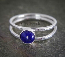 Lapis Lazuli Solid 925 Sterling Silver Band Ring Handmade Jewelry sz705