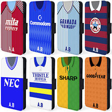 Retro Football Shirt iPhone Case 6 6s 7 Plus Wallet Cover Personalised ALL TEAMS
