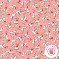 Moda 30's PLAYTIME 2017 Pink Dogs 33211 15 Chloe's QUILT FABRIC Reproduction