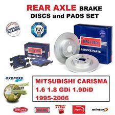 FOR MITSUBISHI CARISMA 1.6 1.8 GDi 1.9DiD 1995-2006 REAR AXLE BRAKE DISCS + PADS