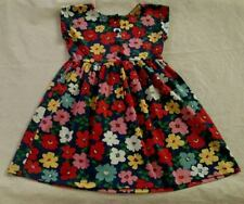 NWT Hanna Andersson Floral Short Sleeve Playdress Play Dress 120 6 7 Girls