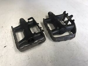 Shimano Deore LX PD-M550 Retro Mountain Bike Flat Pedals MTB Vintage 90s Cage