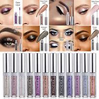 12Colors Liquid Eye Shadow Glitter Makeup Shimmer Smokey Eye Cosmetic Waterproof