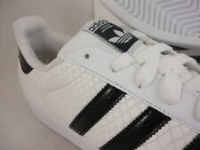 41891a1b503 adidas Superstar Snakeskin Mens D70171 White Black Shell Toe Shoes Size 11.5