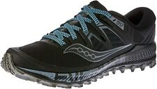 Saucony Men's Peregrine ISO Trail Running Shoe, Black/Grey, 8 2E(W) US