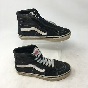 Vans Sk8-Hi Sneakers Skateboarding Shoe High Top Lace Up Black Mens 5 Womens 6.5