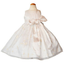 Susanne Lively Toddler Girls 100% Silk Ivory Christmas Dress New Size 2T