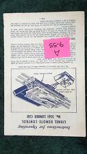Lionel # 3361 Remote Control Lumber Car Instructions Original