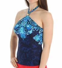 Ralph Lauren Womens Tankini Swimwear Top-Indigo-6