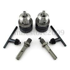 1.5-13mm Hammer Drill Chuck Screwdriver Driver Rotary Adaptor + SDS Plus Shank