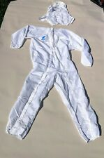 Vintage At&T Bell Labs Full Clean Room Suit W/ Hat Garment Size Large