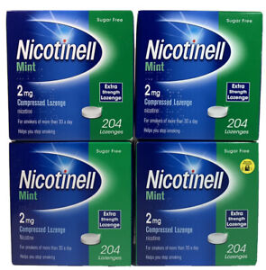 4X204 Nicotinell Mint 2mg Sugar Free Lozenge 816 Lozenges in Total Long Exp-2022