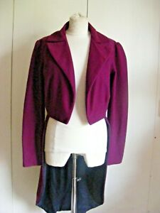 Vintage theatrical tailcoat tail coat purple polyester Dickens Victorian Gent 36