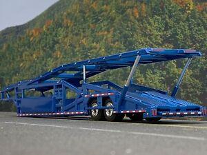 1/64 SPECCAST METALFLAKE BLUE 5 CAR MILLER CAR CARRIER TRANSPORT TRAILER