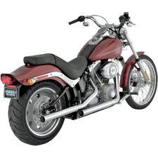 Vance & Hines Chrome Straightshots Slip-On Exhaust Mufflers Harley Softail