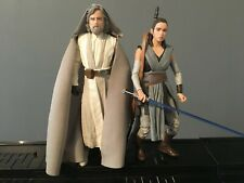 "Star Wars Black Series Last Jedi Training Rey & Master Luke Skywalker 6"" Figures"