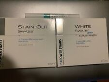 Power Swabs 1 Month Intensive Teeth Whitening Kit 7-Day Ultra White Kit W/ Pen