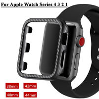 Carbon Frame Protector iWatch Case cover for Apple Watch Series 4 3 2 1 DE SAC