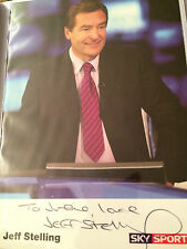 6x4 Hand Signed Photo of Sky Sports Football News Presenter Jeff Stelling
