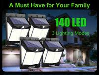 140 LED Lumières solaires Capteur de mouvement Pour lampe murale extérieure