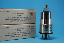True NOS NIB Date Matched Quad Sylvania JAN-CHS-1N5GT  VT-146 Vacuum Tubes