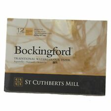 """Bockingford aquarelle peinture tampon collé 12 feuilles papier 7"""" x 5"""" Rough 300gsm"""