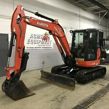 2015 KUBOTA KX057 USED MINI EXCAVATOR - CAB, HEAT, A/C, LOW HOURS, THUMB - CLEAN
