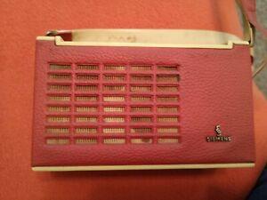 Kleines Kofferradio Siemens Taschensuper RT 10 50er..60er Jahre