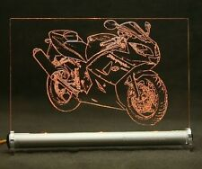 Triumph Daytona 650  als Gravur auf LED Leuchtschild Motorrad