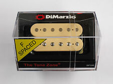 DiMarzio F-spaced Tone Zone Bridge Humbucker Creme W/Chrome Poles DP 155