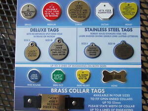 DOG/CAT BRASS or NICRON  IDENTIFICATION/ I.D TAGS +DEEP ENGRAVING NUTSABOUTMUTTS