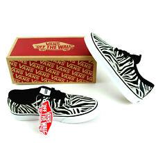 New Vans Zebra Stripe Womens Shoes Size 5.5 Metallic White Black Or Size 4Y Girl