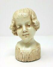 Vintage Chalkware Girls Bust