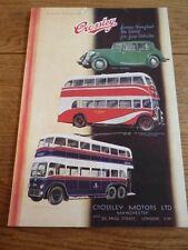 CROSSLEY CAR, BUS, TROLLEY ORIGINAL ADVERT, AUTOCAR 1937