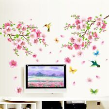 Art Large Cherry Blossom Flower Butterfly Tree Wall Sticker Decal Home Decor #WE
