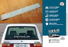 """Volkswagen Aufkleber Sticker Autocollant """"Das Original.[1976/2017-GTI]"""" Golf VW"""