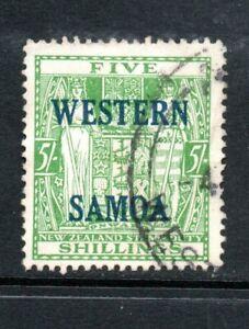Samoa - 5/- green, SG 232. FU, 1958