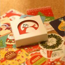 38Pcs/bag Paper Crafts Scrapbooking Decor Christmas Stickers Decorative Sticker