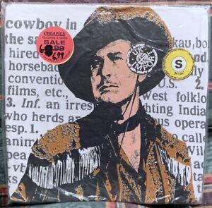 Errol Flynn Dodge City Cowboy Movie Vintage Art T-Shirt 80's Screen Stars RARE