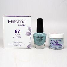 ANC Amazing Nail Concepts Matched kit # 67 Aqua Glitter