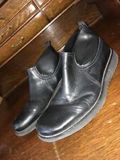 5fbaa124971c27 Bacco Bucci Mens Ankle Boots Black Leather Size 9.5 Us Made In Italy
