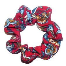 NEW CUTE RED FLORAL HANDMADE LARGE ELASTIC SCRUNCHIES PONYTAIL HAIR BAND E618