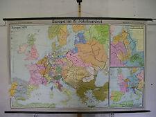 Scheda crocifissi Mappa Muro Cartina a rotelle Mappa Map Europa Europe 15.jh Century 204x133